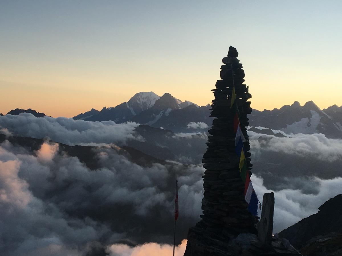Le Mont-Blanc depuis la cabane Valsorey