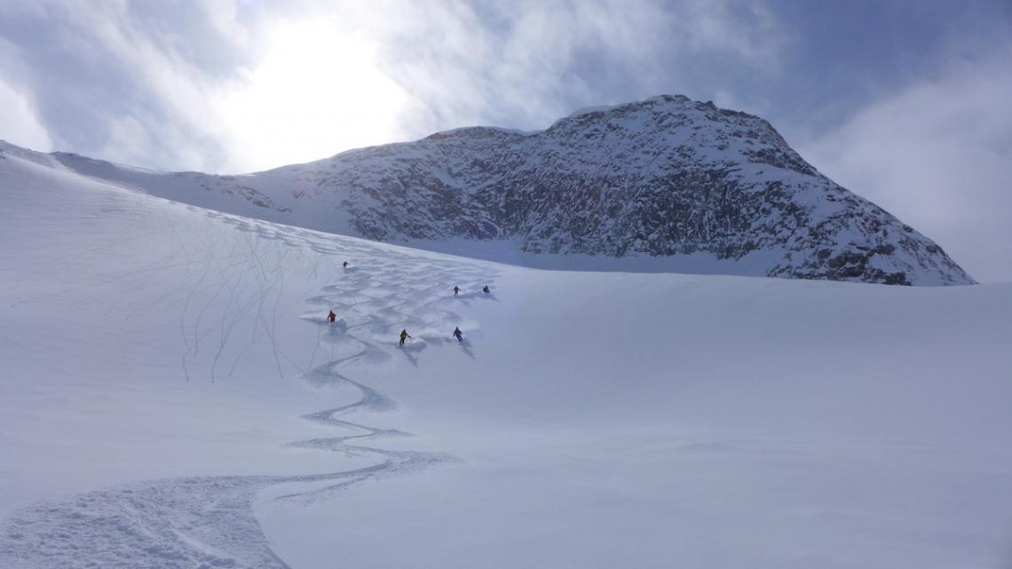poudreuse au Groenland